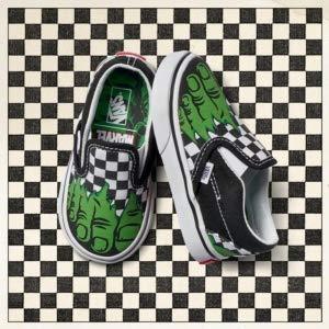 Vans Toddler X Marvel Slip-On Skate Shoe