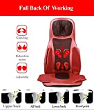 Balscw Collo posteriore Massaggiatore per la vita Massaggiatore per il calore Cuscino per sedile Cuscinetto con vibrazione per il rotolamento - per alleviare il dolore muscolare - Uso in casa