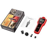 Dooret Tacómetro Digital sin Contacto 2 en 1 Tacómetro Digital Medidor fotoeléctrico Probador de rotación Instrumentos de medición de Velocidad