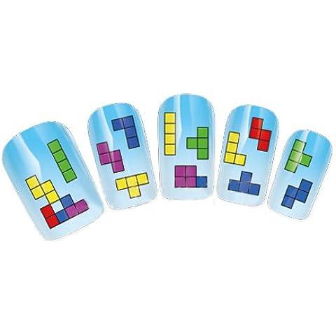 Nicedeco - Calcomanías y Autoadherentes Pegatinas DIY Decoración para Uñas Móvil Tarjeta de Invitación Juego de Tetris