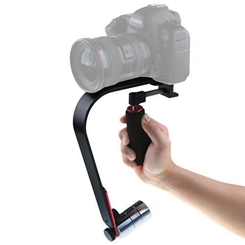 Andoer Kompakter Video/Cam-Stabilisator mit Griff und Schulterstütze, für iPhone 5S 6DV Camcorder DSLR ()