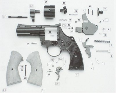 Ricambi in kit per Revolver a salve Magnum Bruni calibro 380 -