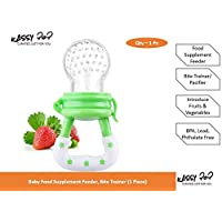 KASSY POP Baby Pacifier, Bite Trainer, Food Feeder for Babies and Infants for Fruits Vegetables (Green)