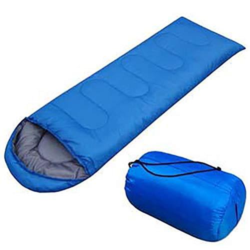HAJZF Tipo Outdoor Campeggio Sleeping Bag Portatile Ultralight Impermeabile Viaggio a Piedi Cotone Sacco a Pelo,Blue