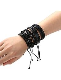La Cabina Bracelet Réglable Bijou Fantaisie Rétro Femme et Homme Bracelet  de Poignet Bangle en Perles 7a8fd69eedb