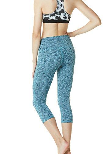 Tesla Capri, yoga 53,3cm high-waist controllo pancia pantaloni W tasca FYP32 TM-FYP32-SDB