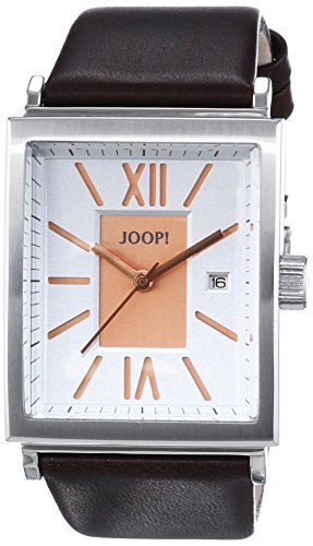 Joop! Men's Quartz Watch with Black Dial Analogue Display and Gold Leather Executive JP101421002