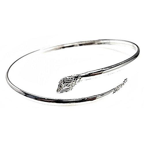 Silber-Armband starren Gesetz 925m Schlange Motiv [AB2655]