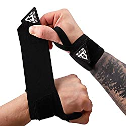 PULLUP & DIP Wrist Wraps Wrist Bandages for Fitness, Calisthenics, Crossfit, Bodybuilding & Strength Training, Professional Sports Bandages Stabilizing & Protective, (Pullup & Dip Branding)