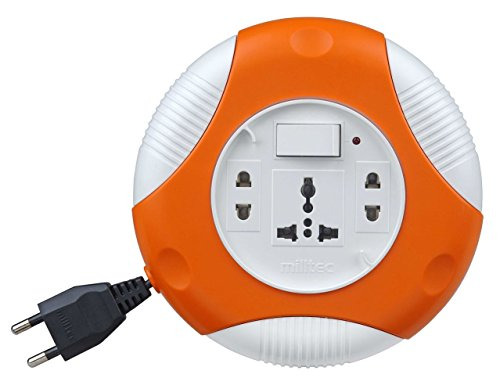 Milltec 1088 Clippy 2 pin 10 meter Flex Box (extension cord with Indicator & International Sockets)