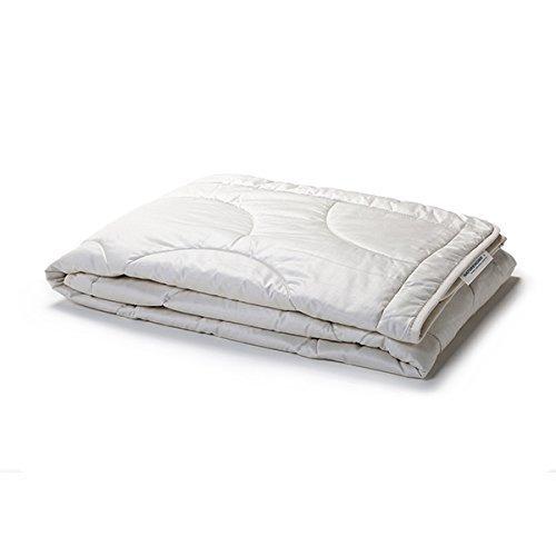 NATUREHOME Sommerdecke leichte Bettdecke Wildseide Bio Baumwolle GOTS 155x220