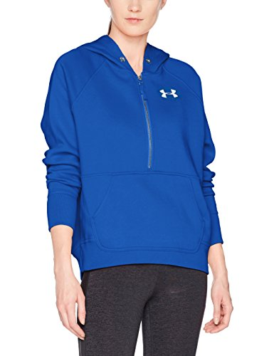 Under Armour Damen Favorite Fleece 1/2 Zip Up Top Größe L Lapis Blue/Lapis Blue (Zip Up Für Armour Under Frauen)