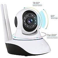 Olix Kablosuz Wifi İp Kamera 1080P Full HD 3 MP Hareketli Kamera Gece Görüşlü Beyaz