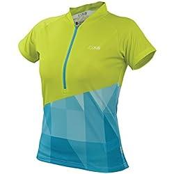 IXS Jersey Sablun - Prenda, Color Verde (Lime/Blue), Talla de: 42