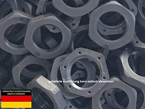 PA6 Kunststoff Gegenmutter gfk-verstärkt M20x1,5 (M20, schwarz, 10)