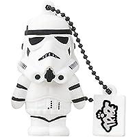 Tribe Disney Star Wars Stormtrooper USB Stick 16GB Pen Drive USB Memory Stick Flash Drive, Gift Idea 3D Figure, PVC USB Gadget with Keyholder Key Ring - White