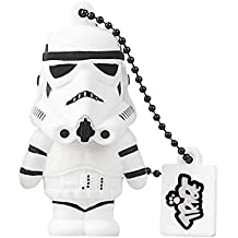 Tribe Disney Star Wars Stormtrooper USB Stick 16GB Speicherstick 2.0 High Speed Pendrive Memory Stick Flash Drive, Lustige Geschenke 3D Figur, USB Gadget aus Hart-PVC mit Schlüsselanhänger – Weiss