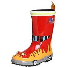 Kidorable Originale di Marca Stivali di Gomma Pompiere per bambini,