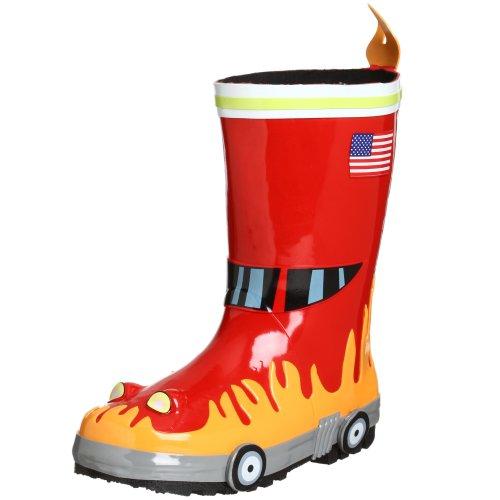 Kidorable Originale di Marca Stivali di Gomma Pompiere per bambini, ragazze, ragazzi