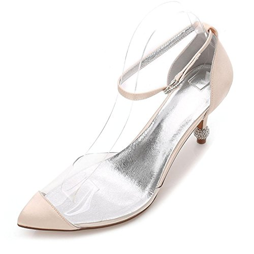 L@YC Tacco Alto da Donna Summer Wedding Party & Evening Dress Casual Stiletto F17767-21 Champagne