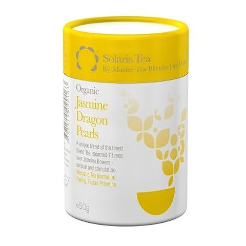 Solaris Tea Organic Loose Whole Leaf Jasmine Dragon Pearls 50