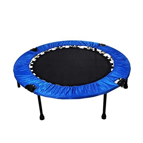 AOLI Falttrampolin Sicherheit Fitness Gym Übung Kids Indoor Mini Trampolin, Max. Gewicht von 100Kg-Blau