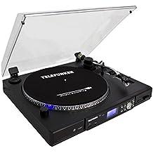 Telefunken TT100EM Plattenspieler (33/45 U/Min, USB-Anschluss, MP3-Encoding)