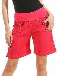 Malito Damen Bermuda aus Leinen   lässige Kurze Hose   Shorts für den  Strand   Pants d156326b9a