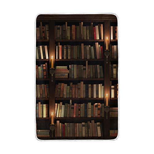DOSHINE Doppel-Decke, Bücherregal, Raum-Bibliothek, weich, leicht, wärmend, 152,4 x 228,6 cm, für Sofa, Bett, Stuhl, Büro -