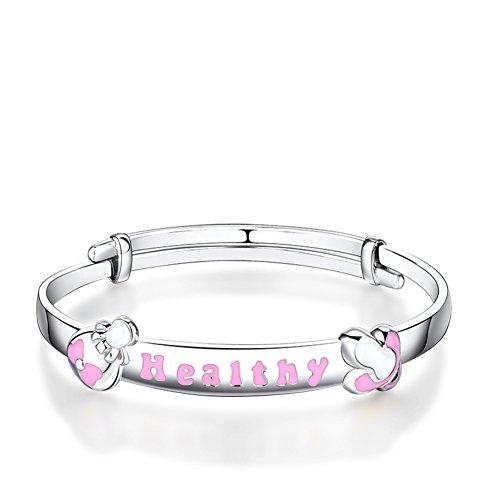 collier pendentif/Baby bracelets de cheville bijoux argent serrure pour enfants/ cadeau de la pleine lune bébé A