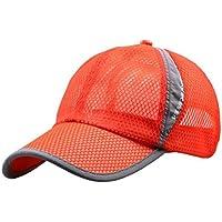 Sannysis Ventilación Gorros Unisex Sombrero de Visera Ajustable (Naranja) be5814a1cdc