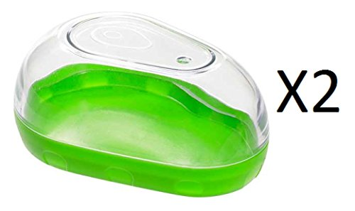 progressive-green-stackable-avocado-keeper-with-clear-snap-on-lid-2-pack