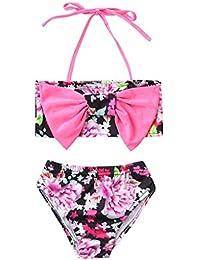 151989f8d K-Youth® Traje de baño Dos Piezas Niña Lindo Estampado de Floral Bikinis de  Tirantes con Bowknot Niñas 2019 Rebajas…