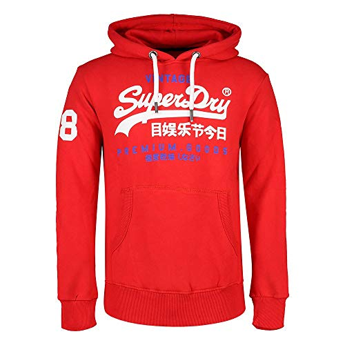 Superdry Herren Hoodie Premium Goods Eagle Red - XXL Eagle Herren Hoodie