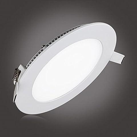 S & G®, d'éclairage LED encastrable ronde Ultrathin panneau LED,