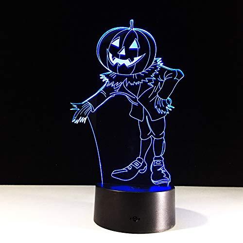 Halloween Kostüme Kürbisse 3D NachtlichtVisuelle LEDSchreibtisch Tischlampe Für Zuhause Atmosphäre Lampe Baby Schlaf Beleuchtung