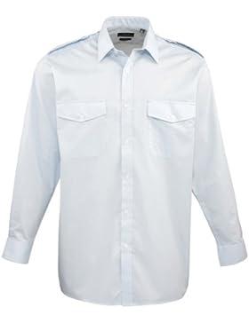 Premier Workwear Long Sleeved Pilot Shirt, Camicia Uomo