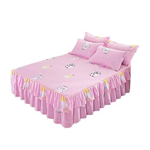 Yestter Bedsure Baumwolle Bettwäsche 1.52m Rot, Lila, Blau Bettbezüge Mit 3-Teilig Super Weiche Atmungsaktive Baumwollbettwäsche Queen-Bett Bett Rock - Roten Bett Ensemble