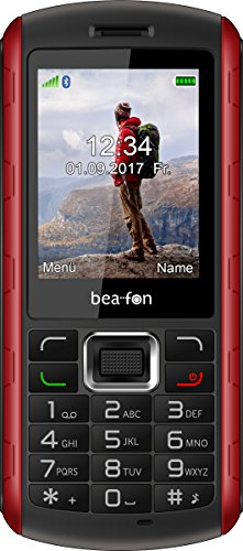 "Beafon Outdoor-Handy ""AL560"" (Bluetooth, Freisprechfunktion) Schwarz/Rot"