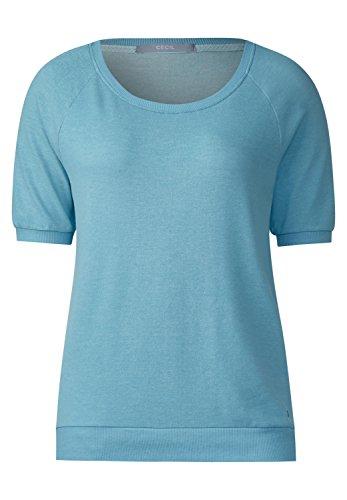 CECIL Damen Sportives Melange Shirt blue topaz (blau)