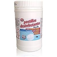 Pastillas desinfectantes de lejía. Bote de 300 dosis. 1Kg, Más seguridad y desinfección
