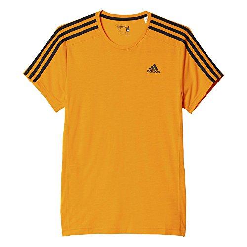 Adidas Ess 3S TEE Maglietta Sportiva per Uomo, Maniche Corte, Colore Arancio/Nero (Orange/Schwarz), Taglia M