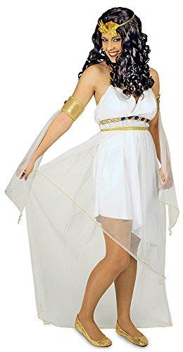 Göttin Olympischen Kostüm - Griechische Göttin Athene Kostüm für Damen Gr. 40 42 - Wunderschönes antikes Kostüm für Karneval, Theater oder Mottoparty
