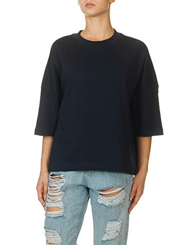 dr-denim-jeansmakers-womens-hedda-top-cropped-blue-sweater-in-size-m-blue