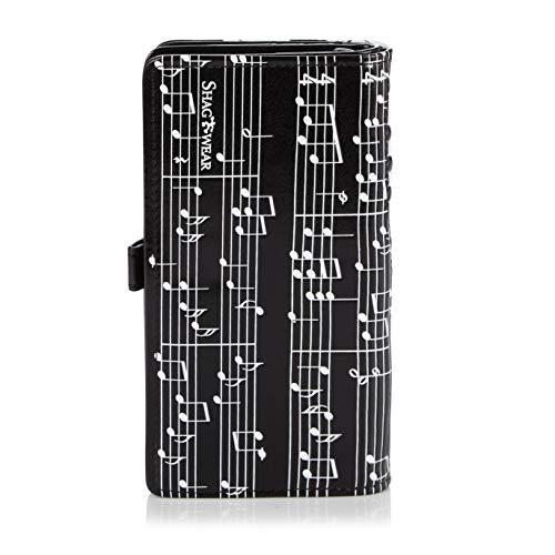 Shagwear portafoglio per giovani donne , Large Purse : Diversi colori e design: (pianoforte sinfonia nero / Piano Symphony black)