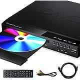 Gueray Lecteur de DVD Compact Multi-Régions Prise en Charge de la Sortie HDMI-Compatible/ AV Entrée USB & 2 MIC Port et Téléc