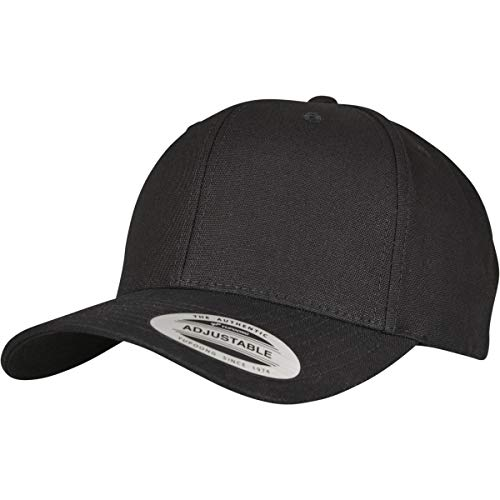 Flexfit Kappe 6-Panel Curved Metal Snap, black, One Size, 7708MS Panel Snap