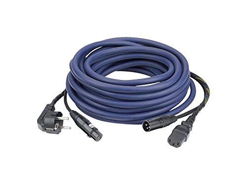 FP08 Cable alimentación/señal 20m schuko-IEC / XLR-XLR