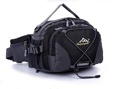 Zll/Multifunktions-Pocket Stecker Rides fließendem Wasser Flasche Taschen Nylon Outdoor Sports Damen Outdoor Tasche Schwarz