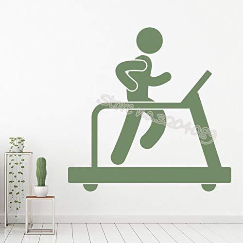 hllhpc Adesivo murale con Decorazione Palestra Tapis roulant Fitness Esercizio Sport Palestra Club Soggiorno in casa Autoadesivo Art56x56cm